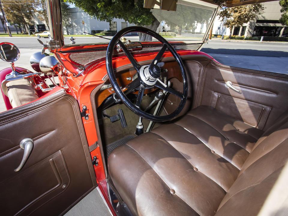 <b>1929 Stutz Series BB Two-Passenger Speedster</b><br />Chassis no. BBC2BL57A<br />Engine no. 91124