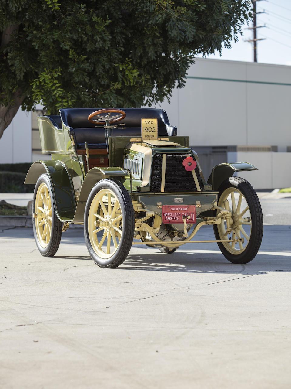 <b>1902 Boyer 9HP Two-Cylinder Rear Entry Tonneau</b><br />Engine no. 593
