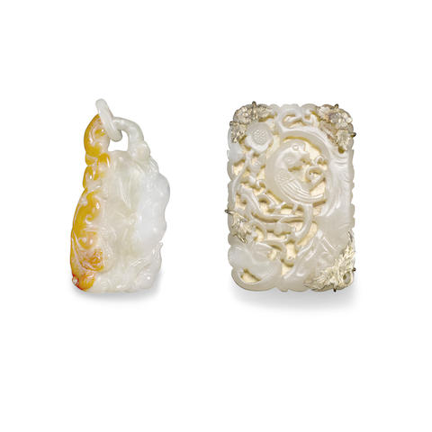 Two small jade plaques (2)