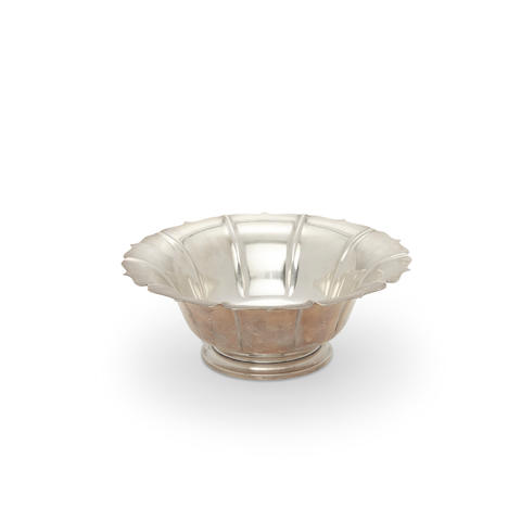 An American sterling silver footed bowl by Shreve & Co., San Francisco, CA, 20th century