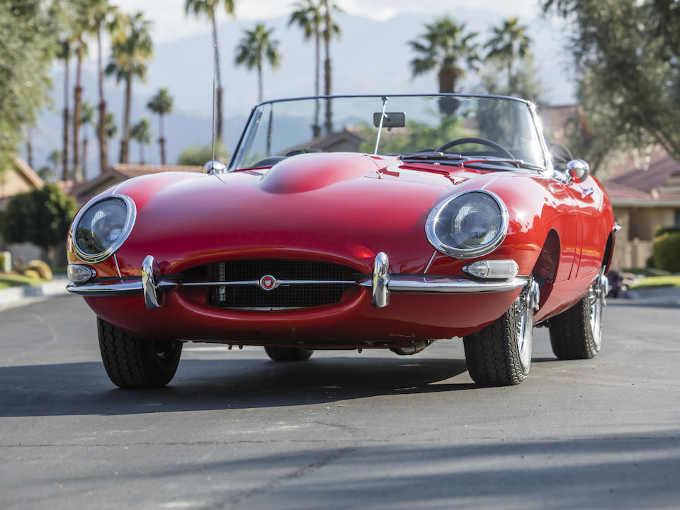 <b>1963 Jaguar E-Type Series 1 3.8-Liter Roadster</b><br />Chassis no. 878960<br />Engine no. R9982-9