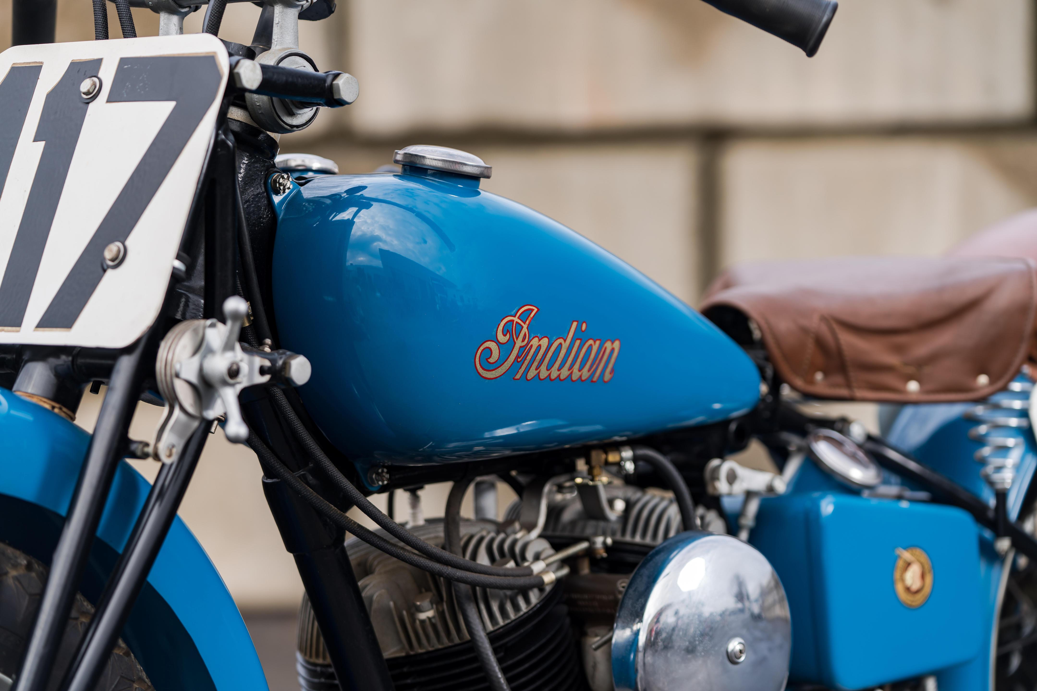 1948 DAYTONA BEACH 200 RACE MOTORCYCLE RACING START PHOTO HARLEY DAVIDSON-INDIAN