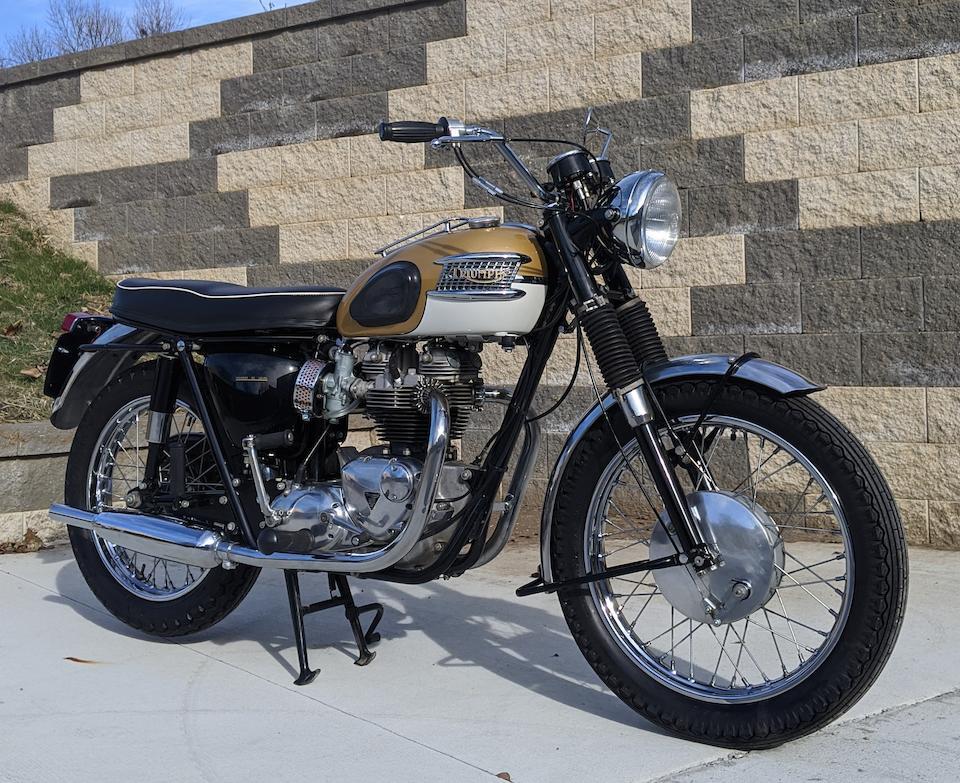 1964 Triumph 650cc T120R Bonneville Frame no. T120R DU6643 Engine no. T120R DU6643