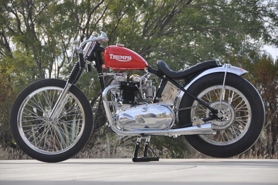 The ex-Bobby Sirkegian, 1953 Triumph 650cc Drag Racing Motorcycle Frame no. 38471 Engine no. 6T 60137