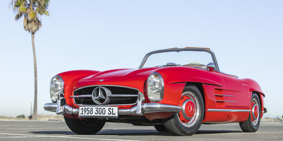 <b>1958 Mercedes-Benz 300 SL Roadster</b><br />Chassis no. 198.042.8500284<br />Engine no. 198.980.8500283<br />Body no. A198.042.8500282