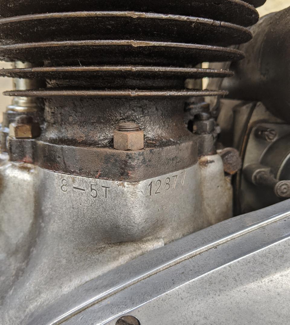 The ex-Bud Ekins, 1938 Triumph 500cc 5T Speed Twin Frame no. T.H.6226 Engine no. 8-5T 12877