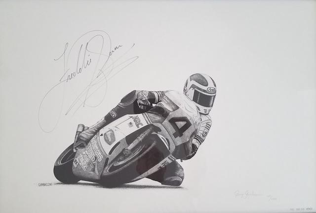 3 Limited edition signed prints of former World Champions   ((3))