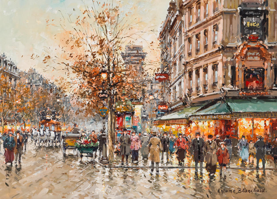 Bonhams Antoine Blanchard French 1910 1988 Porte St Denis 13 X 18in 33 X 45 7cm Stream tracks and playlists from denis blanchard on your desktop or mobile device. bonhams