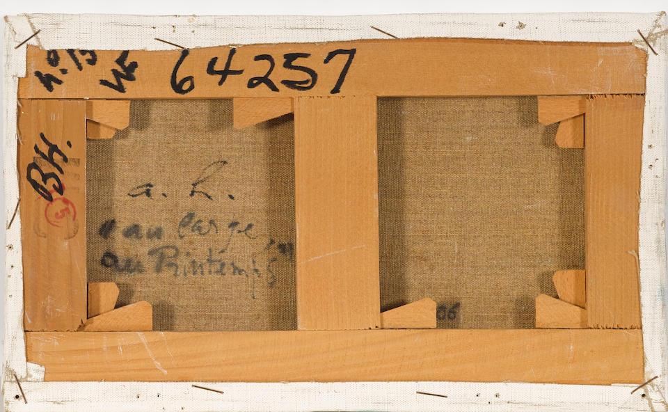 ANDRÉ  HAMBOURG (1909-1999) Au large au Printemps 10 1/2 x 6 1/2 in (26.7 x 16.5 cm)