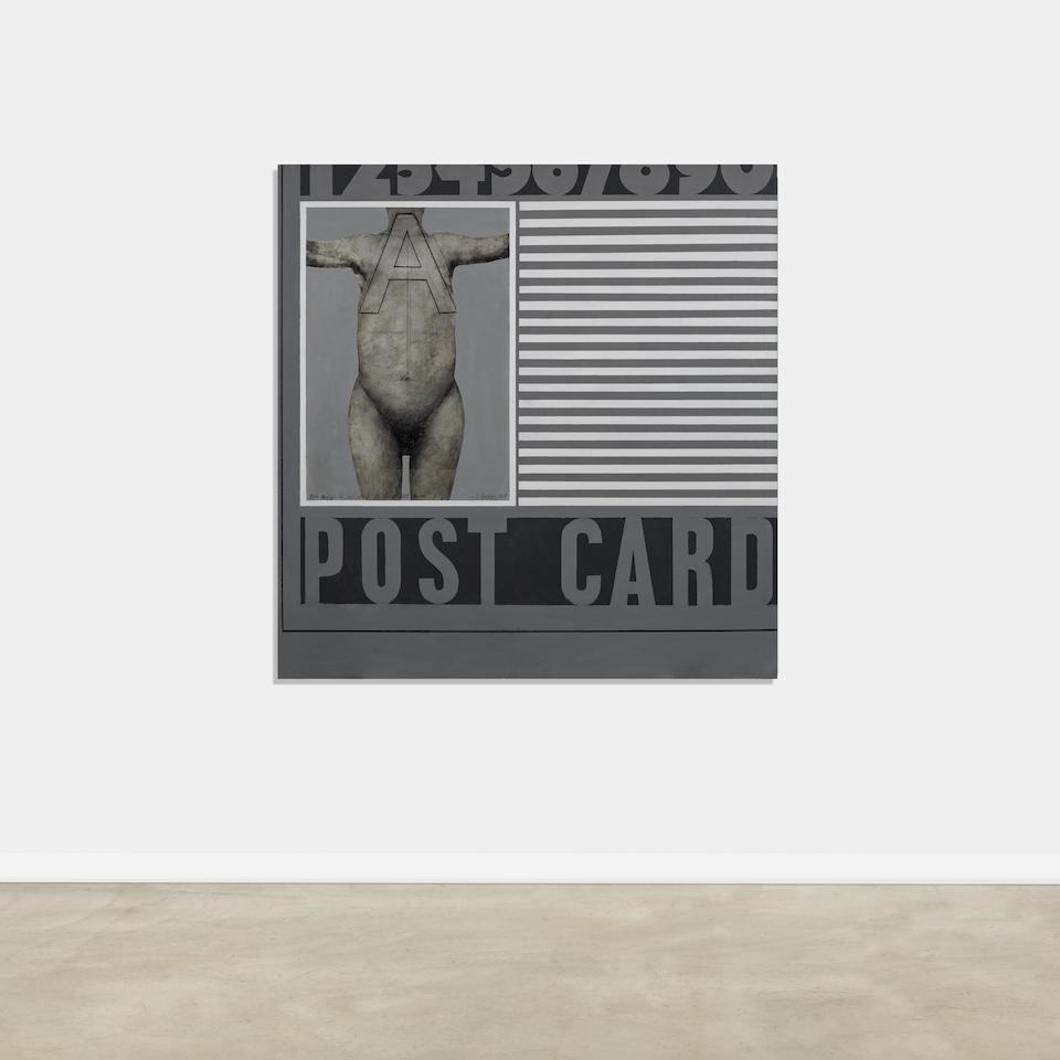 Llyn  Foulkes (B. 1934) Post Card #2, 1964