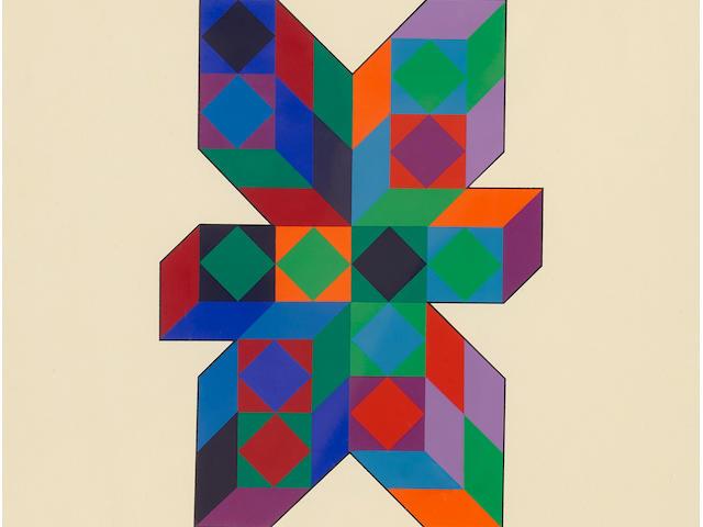 Victor Vasarely (1906-1997); Tridim-C;