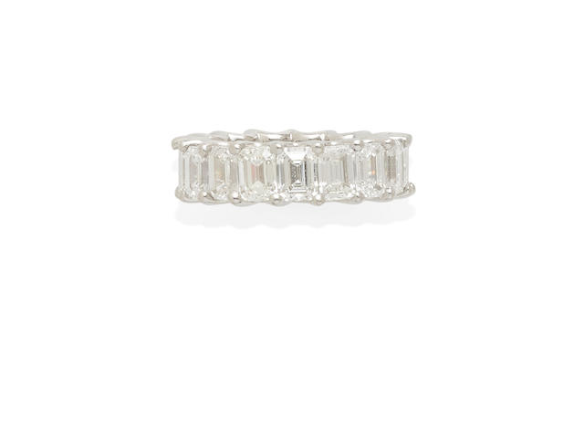a platinum and diamond eternity ring