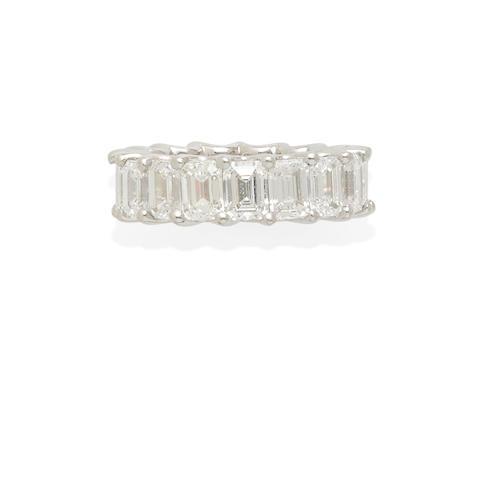 a platinum and diamond eternity ring