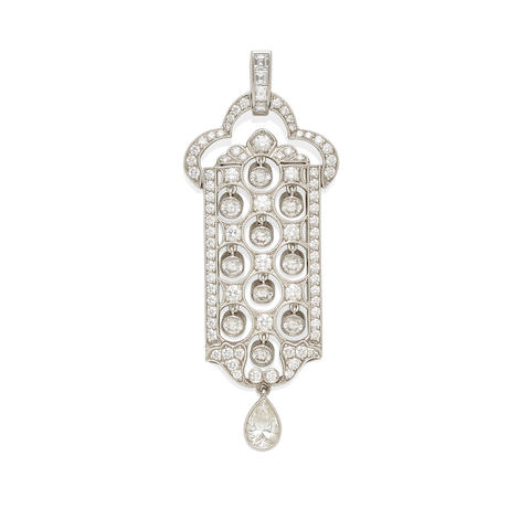 a platinum and diamond pendant, Tiffany & Co.