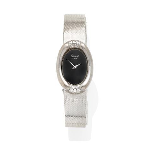a white gold and diamond ladies wristwatch, Chopard