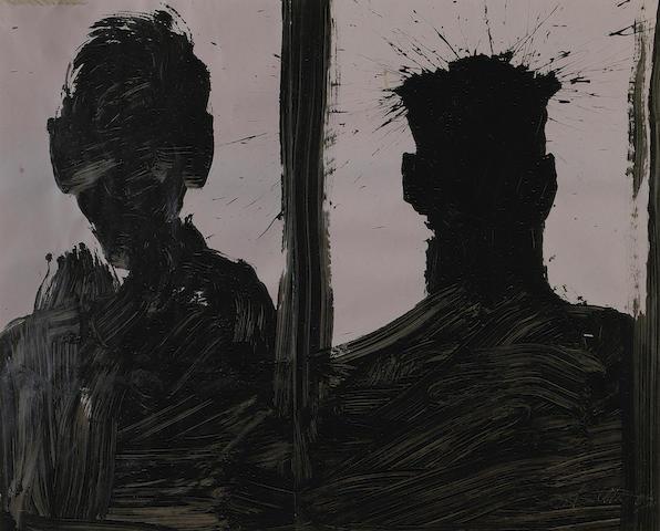 Richard Hambleton (1952-2017) Double Shadow Head Portrait, 2006