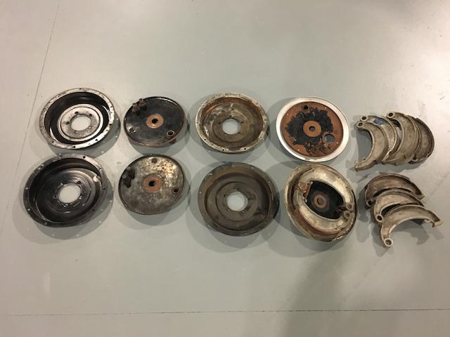 A selection of Vincent brake components