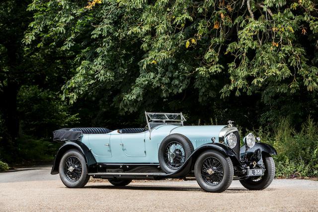 <b>1928 Bentley 6&#189; Liter Open Sports Tourer</b><br />Chassis no. BR2354<br />Engine no. BR2361