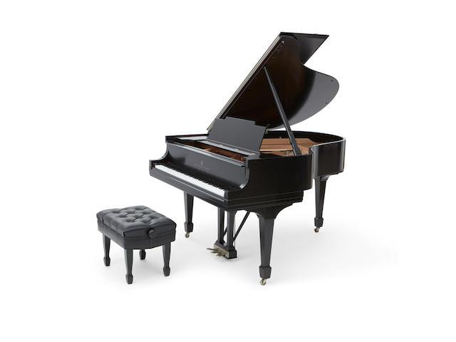 A Steinway Ebonized Baby Grand Piano 20th century