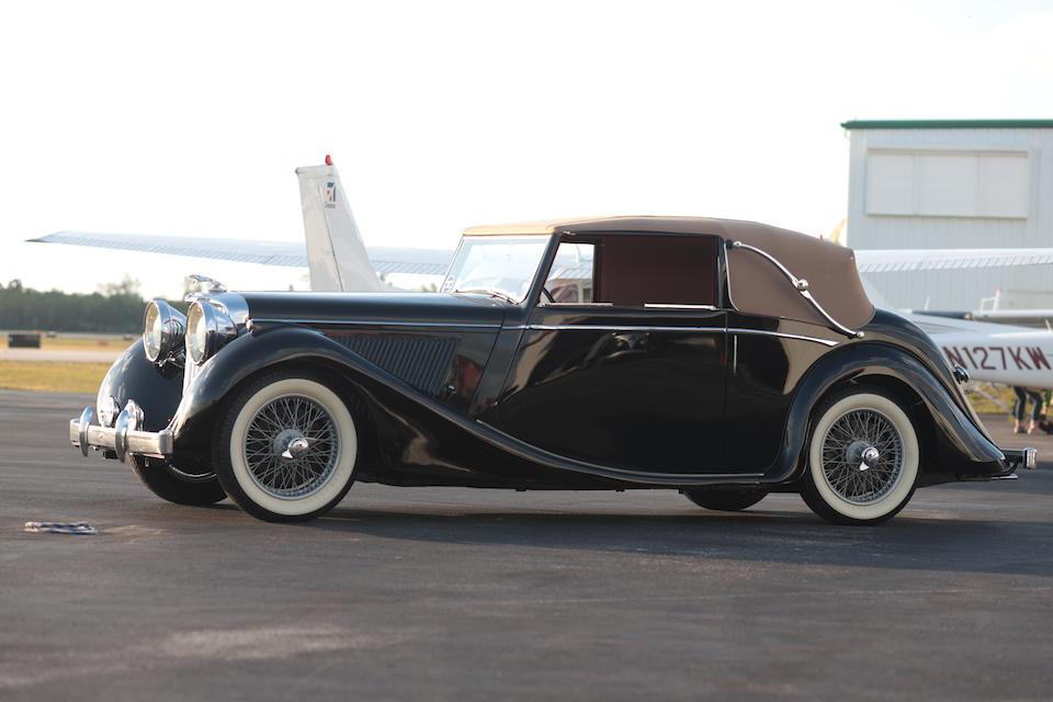<b>1948 Jaguar Mk IV 3&#189; Liter Drophead Coupe</b><br />Chassis no. 637222<br />Engine no. SL3254