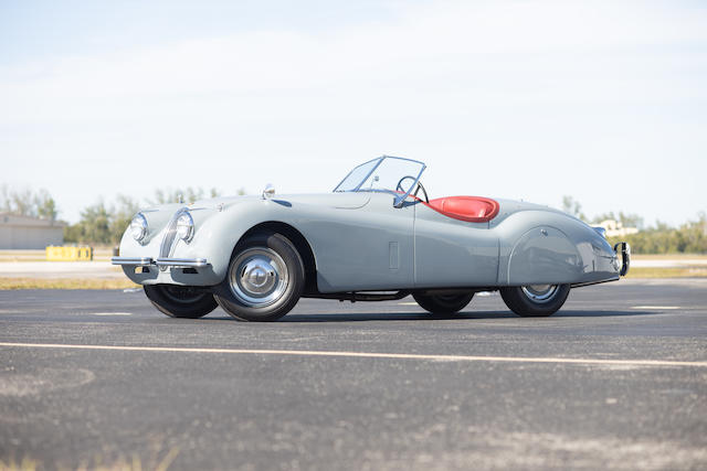 <b>1952 Jaguar XK120 Open Two-Seater</b><br />Chassis no. 673127<br />Engine no. W 6531-8