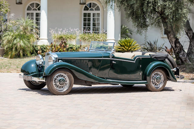 <b>1934 Mercedes-Benz 500K Four-Passenger Tourer</b><br />Chassis no. 123689<br />Engine no. 123689