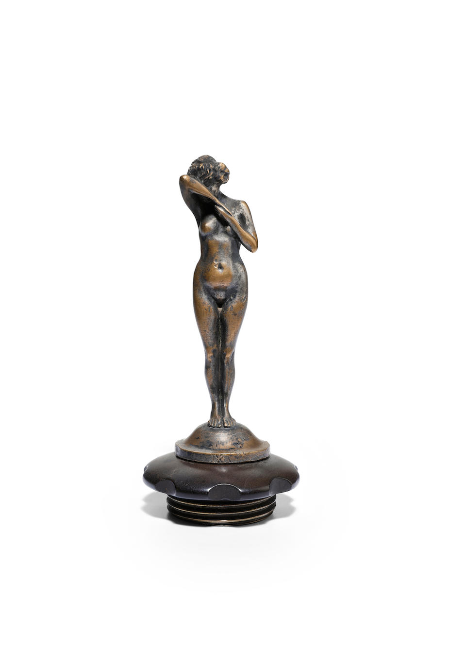 "An Erotic Nude ""Phryne"" mascot, by L.Betti, French, circa 1920,"