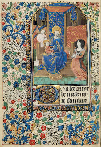 BOOK OF HOURS, use of Rouen. Illuminated Manuscript on vellum, in Latin. [Rouen, c.1470.]