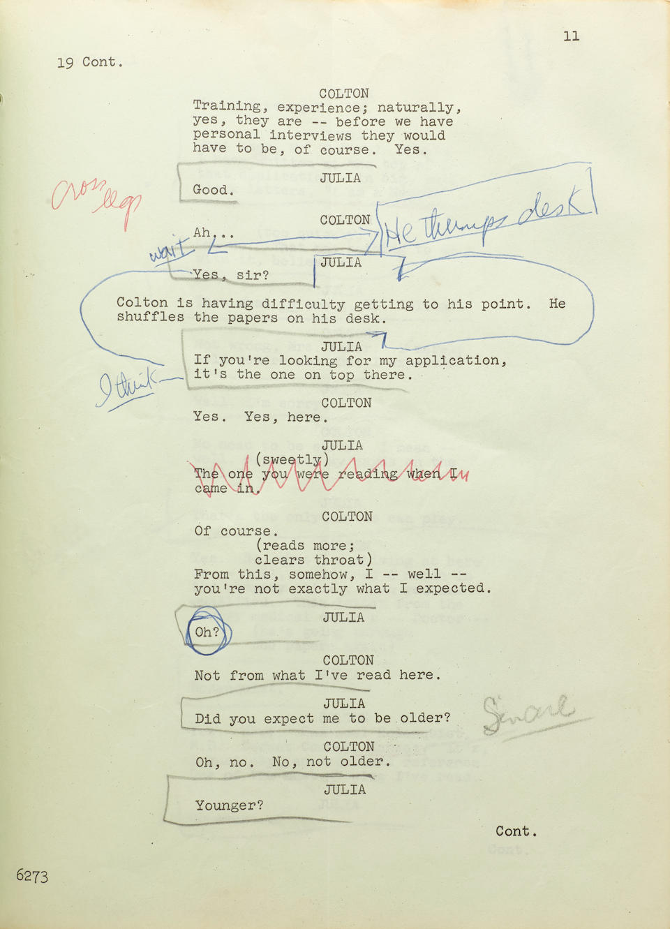 A working script for the pilot episode of Julia