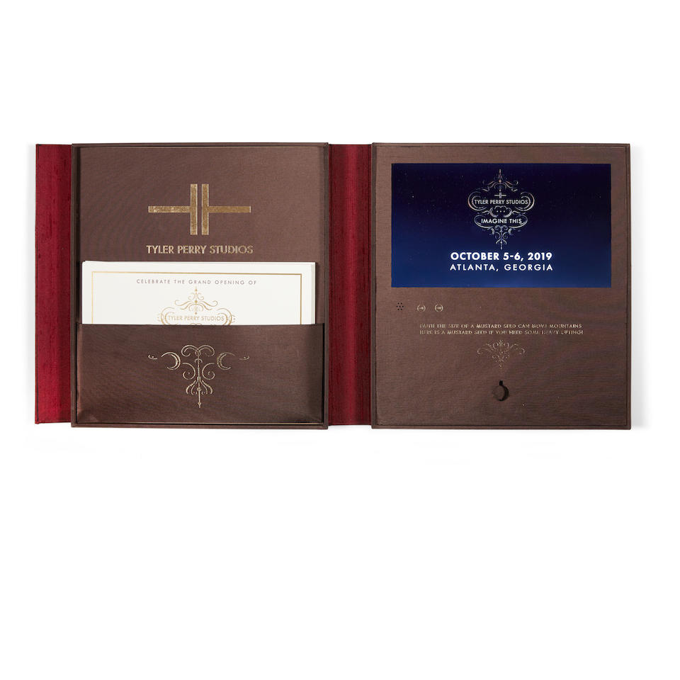 A Tyler Perry personalized video invitation