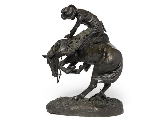 Frederic Remington (1861-1909) The Rattlesnake 24 3/4in high (Modeled in 1904, cast in 1913.)