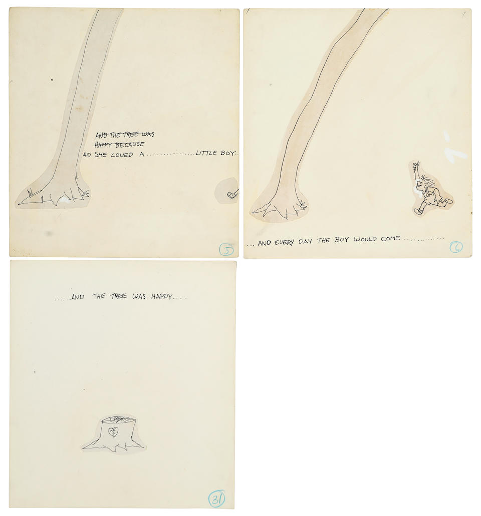 SILVERSTEIN, SHEL. 1930-1999. Original maquette for the Giving Tree, c.1964,