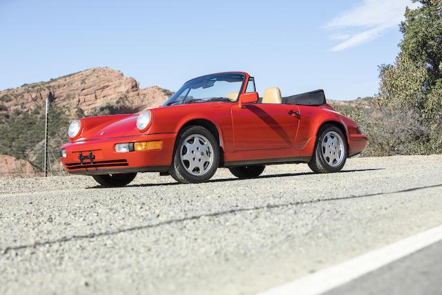 <b>1991 Porsche 911 Carrera 4 Cabriolet</b><br />VIN. WP0CB2969MS460083<br />Engine no. 62M00677