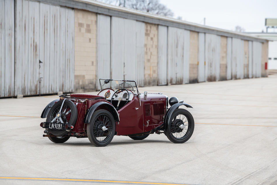 <b>1933 MG J2 Midget Two Seater</b><br />Chassis no. J2932