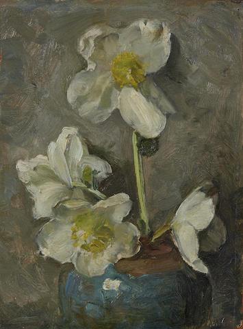Piet Mondrian (1872-1944) <I>Roses de No&#235;l</I> 10 x 7 3/8 in (25.4 x 18.7 cm) (Painted in 1923)
