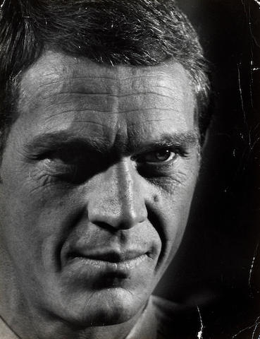 Formerly the property of Steve McQueen An original study of McQueen by Bill Bridges c.1965,