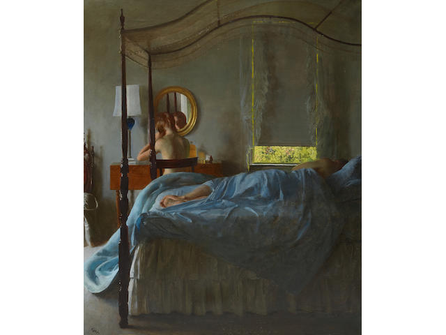 John Koch (1909-1978) Siesta 30 1/8 x 25 1/4in (76.5 x 64.1cm) (Painted in 1962.)