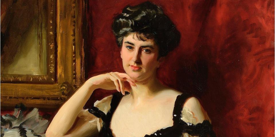 John Singer Sargent (1856-1925) Mrs. John C. Tomlinson 58 1/8 x 37 7/8in (147.6 x 96.2cm) (Painted circa 1904.)