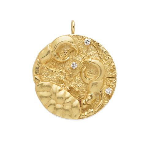 "A Gold ""Cancer"" Zodiac Medallion, Tiffany & Co., Circa 1970"