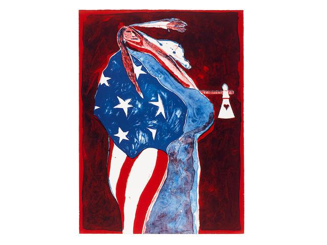 "A Fritz Scholder lithograph, ""American Indian #4,"" 1972"