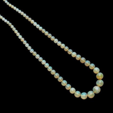 Honey Opal Bead Necklace