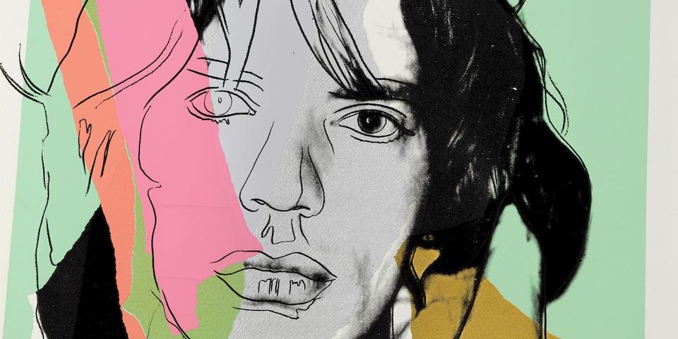 Andy Warhol (1928-1987); Mick Jagger, from Mick Jagger Portfolio;
