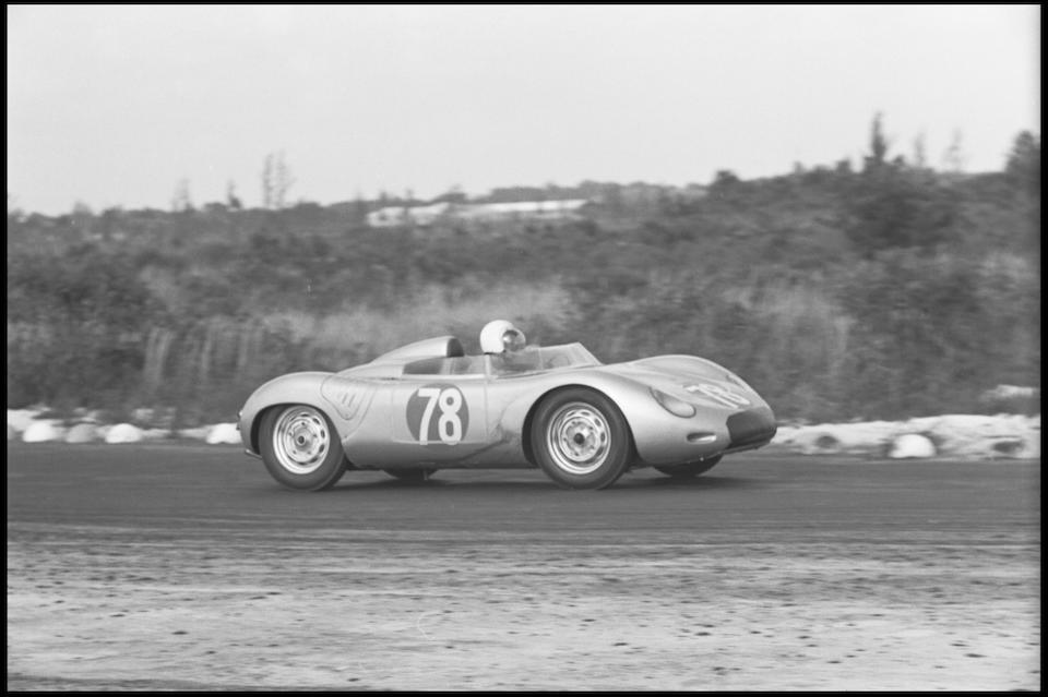 Ex-Bernie Vihl, Raced by Bob Holbert1959 Bahamas Speed Week Multiple First Place Winner In the present ownership since 1974,1959 Porsche 718 RSK Spyder  Chassis no. 718-031
