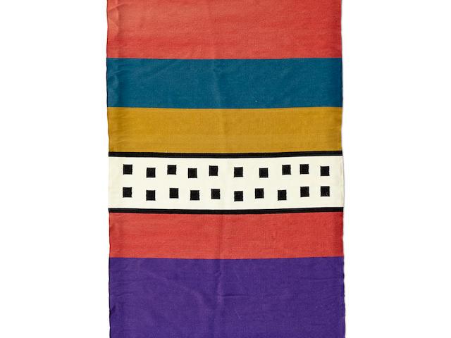 "A Ramona Sakiestewa tapestry, ""Katsina/5,"" circa 1988"