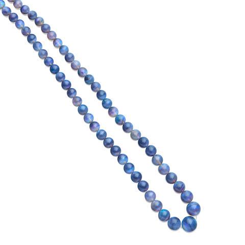 Black Opal Bead Necklace