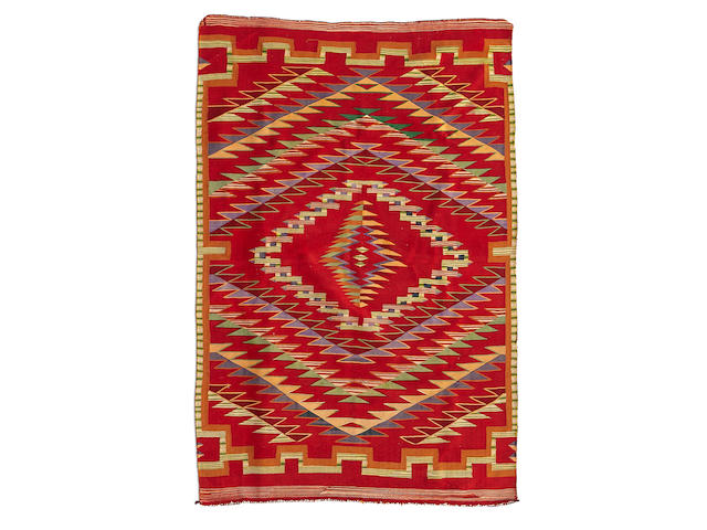 A Navajo Germantown blanket in the Rio Grande style