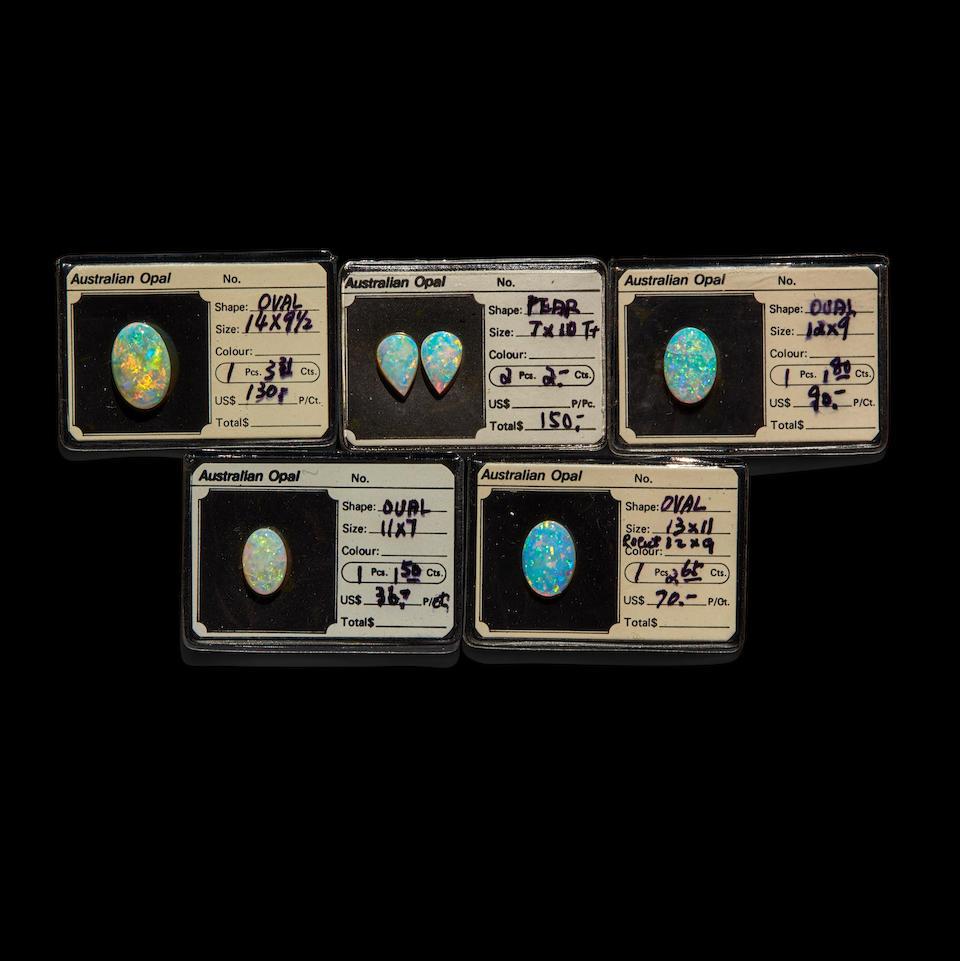 Six Australian Crystal Opals