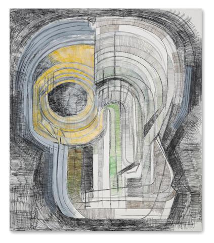 THOMAS HOUSEAGO (b. 1972) TBC (helmet mask panel), 2013