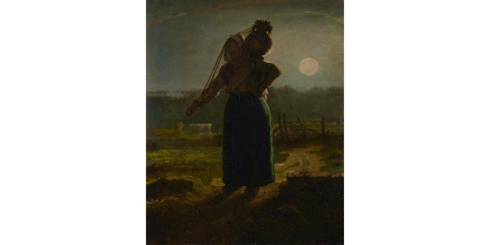 Jean-François Millet (French, 1814-1875) Laitière normande (Norman milkmaid) 13 x 10 1/8in (33 x 25.7cm)