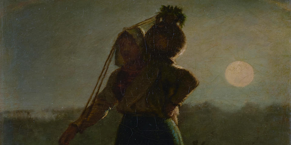 Jean-François Millet (French, 1814-1875) Laitière normande (Norman milkmaid) 13 x 10 1/8in (33 x 25.7cm)